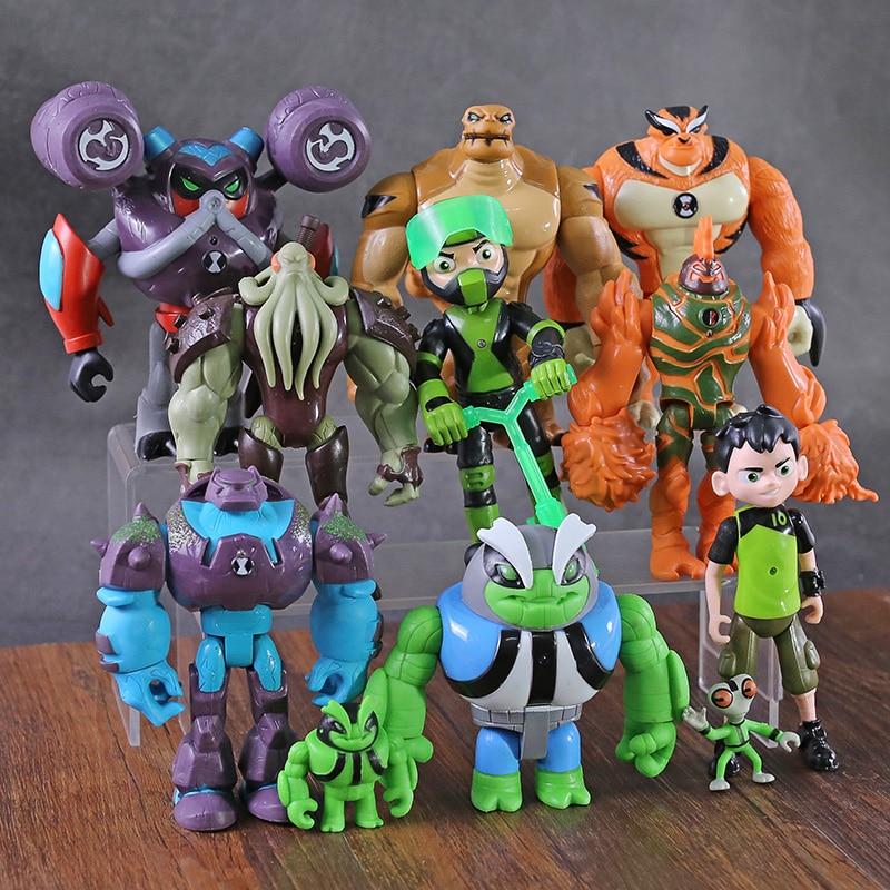11 pçs/set Ben Grey Importa Heatblast Humongousaur Rath Vilgax Figuras de Ação Crianças Brinquedos Presentes