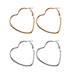 1 Pair New Fashion Hollow Peach Heart Earring Metal Plating Ornaments Simple Dangle Earrings For Women Copper Brincos Jewelry