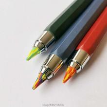 Lápiz de arco iris mágico de 5,6mm x 90mm, boceto de Arte de plomo, Color de dibujo, escuela, suministros de oficina, N12, 20