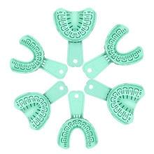 Plateau de dentition jetable, Impression d'implant, Impression plateau de cueillette des dents, outils dentaires porte-plateau matériaux d'approvisionnement Central 6 pièces