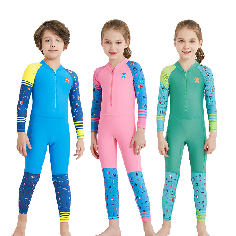 Long Sleeve Swimsuit Kids Diving Suit Kids Swimwear for Girls Age 12 with upf 50+ UV Protection Fast Drying Boys Bathing Suit