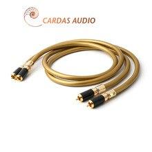 Par hi fi rca cabo de alta fidelidade áudio cardas hexlink dourado 5-c com fibra de carbono rca plug conector cabo cabo de áudio
