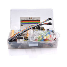 Electronics Component Basic Starter Kit with 830 tie points Breadboard Cable Resistor, Capacitor, LED, Potentiometer