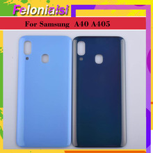 10Pcs/lot For Samsung Galaxy A40 A405 A405F SM-A405F Housing Battery Door Rear Back Glass Cover Case Chassis Shell 2019