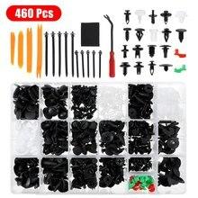 460Pcs With Tool Kit Auto Car Vehicle Body Panel Plastic Push Pin Rivet Fasteners Moulding Trim Clip Car Repair Assortment Kit