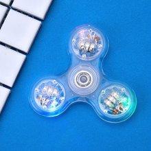 Новый светодиодный светильник fidget spinner Радужный игрушечный