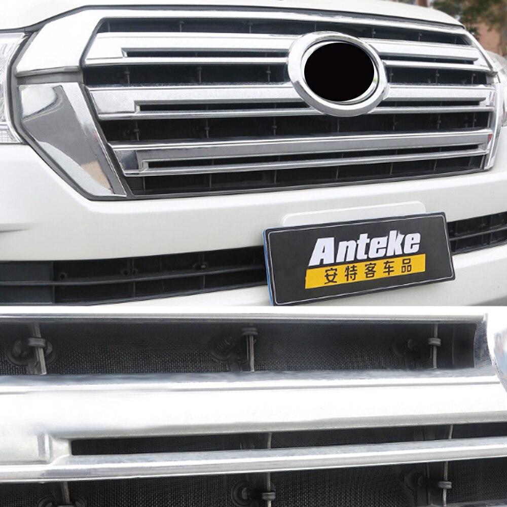GELINSI Voiture Anti-insectes Solaire Capot Avant Grilles Calandre Net Maille Cadre de Pièces D'auto pour Toyota Land Cruiser 200 2016-2018 - 3