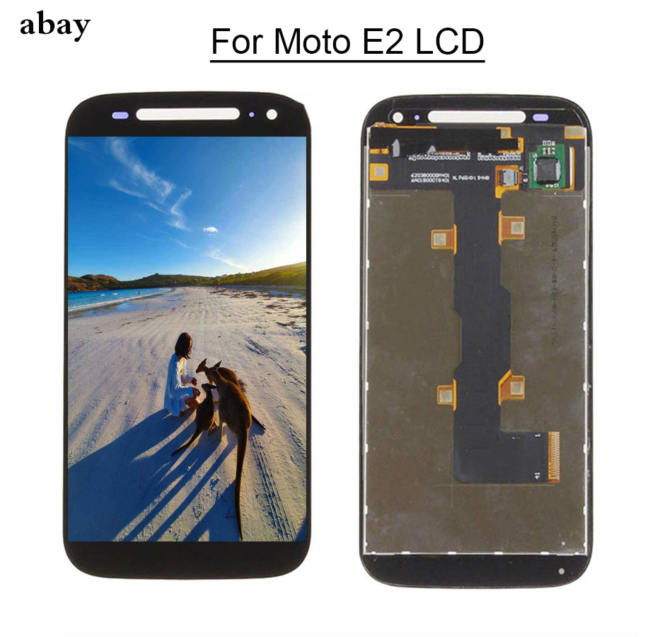 For Motorola Moto E2 XT1505 XT1511 XT1524 <font><b>LCD</b></font> Display + <font><b>Touch</b></font> Screen <font><b>with</b></font> Digitizer Assembly Fast shipping Replacement <font><b>4.5</b></font> <font><b>inch</b></font> image