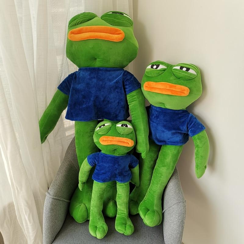 50/70/90cm Pepe The Frog Sad Frog Plush Toys Soft Stuffed Animal Dolls For Kid Birthday Gift
