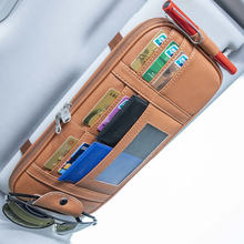 Автомобильный карманный органайзер с козырьком от солнца сумка