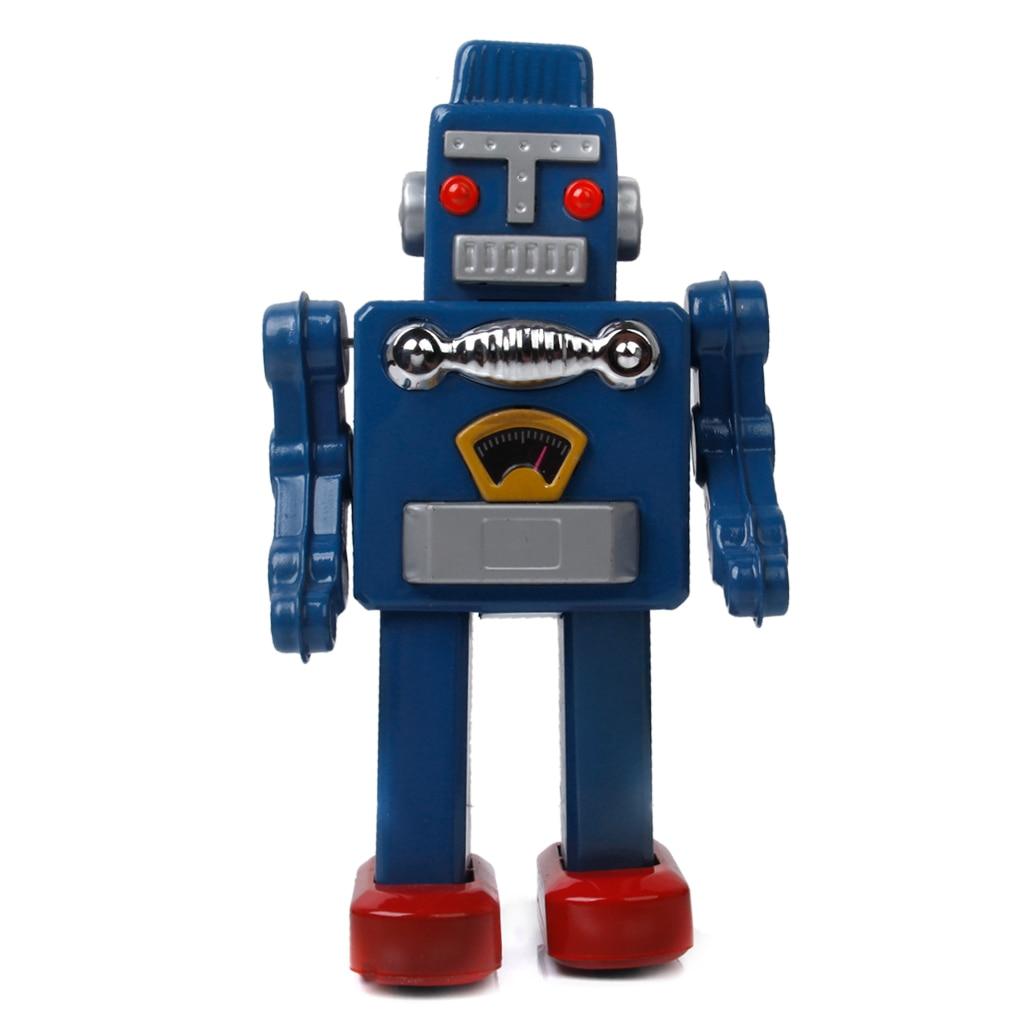 Cool liquidation étain Robot horloge jouet avec clé parfaite décoration de cadeau à collectionner