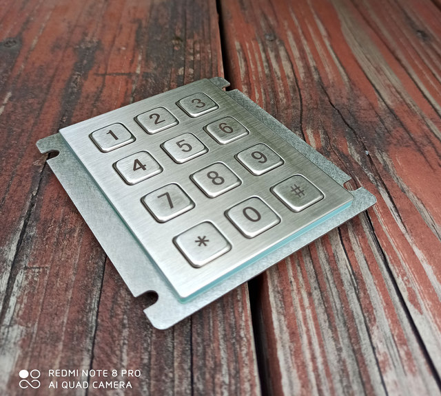 12 Keys 3x4 Matrix USB Kiosk Keypads Metal Stainless Steel Numeric Keypad For Access Control 6