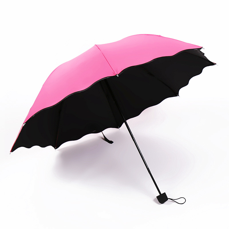 Advertising Umbrella Customizable Creative Water Open Three Vinyl Folding Sun-resistant UV-Protection Ultra Large College Style
