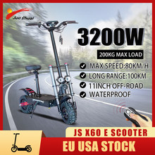 60V 3200w Electric Scooters Adults with Seat Foldable trotinette électrique 20/26/30/36AH E Scooter Battery 80KM/H Fast No Tax