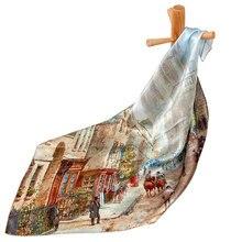 Чистый Шелковый шарф, женский шарф, старый уличный платок, шелковый шарф для волос, Женская бандана, платок, квадратный шелковый платок