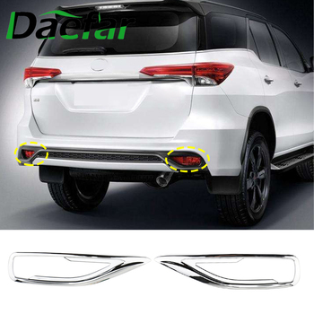 Car Fog Light Covers Surround Air Duct For Toyota Fortune SW4 2016 - 2019 ABS Rear Bumper Tail Fog Light Lamp Cover Stickers image