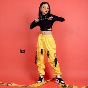 Image 4 - 어린이를위한 새로운 힙합 의류 무대 의상 거리 착용 어린이 재즈 댄스 의상 볼룸 댄스 성능 의류 DQS3065