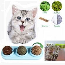 3pcs Pet Cat Snacks Catnip Ball Candy Licking Solid Nutrition Gel Energy Sugar with Sucker