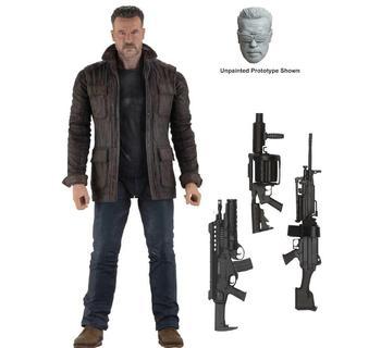 1/10 2019 Arnold Schwarzenegger Action Figure Terminator T-800 Action Figure 18cm In Retail Box