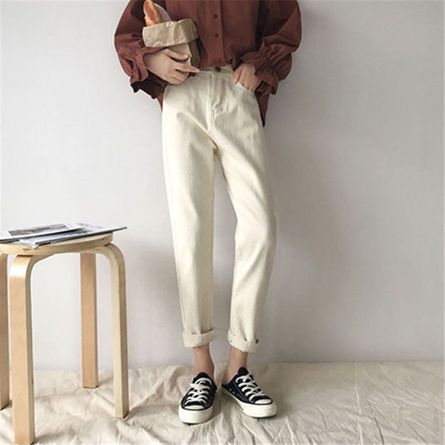 Jeans Women Spring Summer Trendy Korean Style Simple All-match Kawaii Harajuku Streetwear High Quality Ulzzang Womens Trousers 8