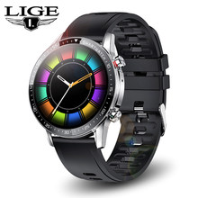 LIGE 2021 New Smart Watch Men Bluetooth Call Heart Rate Sports Bracelet Smart Clock Waterproof Smartwatch Women For Android iOS