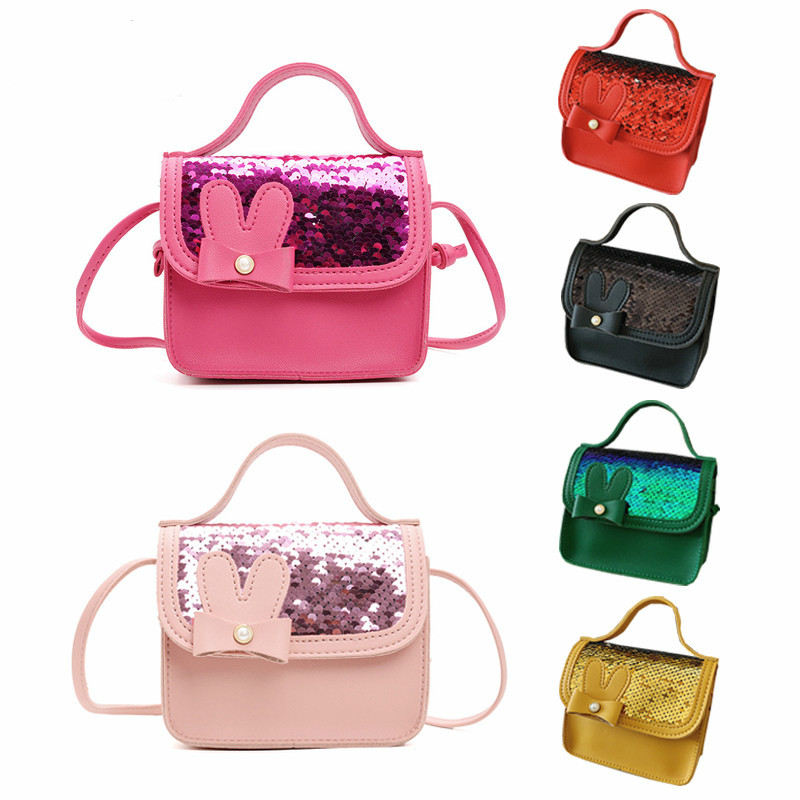 Girl Shiny Coin Purse Handbag Children Wallet Small Coin Pouch Box Kid Change Purse Cute Bowknot Baby Money Bow Mini Bag