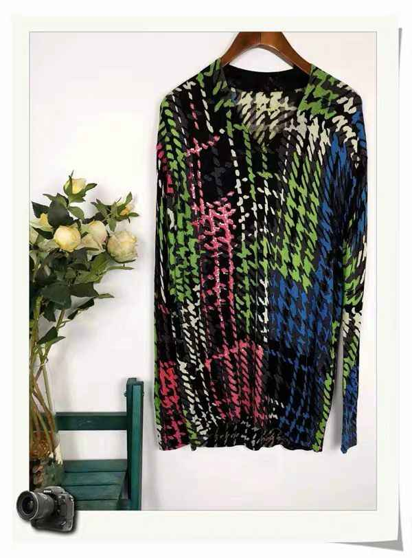 DESIGUAL2019 A variety of Spanish Deg home printed knitted cardigans sweater size M
