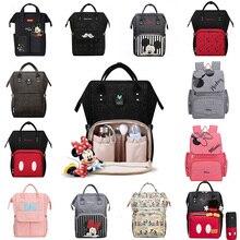Disney USB Windel Tasche Rucksack Mumie Mutterschaft/Windel Tasche baby tasche Baby Mickey Maus Reise Pflege Tasche Baby Pflege tasche Wet bag