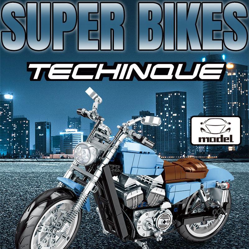 SEMBO Block Motorcycle Simulation Chain Linkage Building Blocks