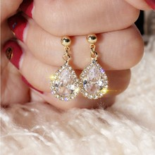 Modern Women Earrings 2020 Elegant Pendant Crystal Rhinestones Earrings Fashion Women Jewelry Accessories Girl Gift elegant crystal rhinestones stud earrings for women accessories jewelry fashion women earrings statement girl gift
