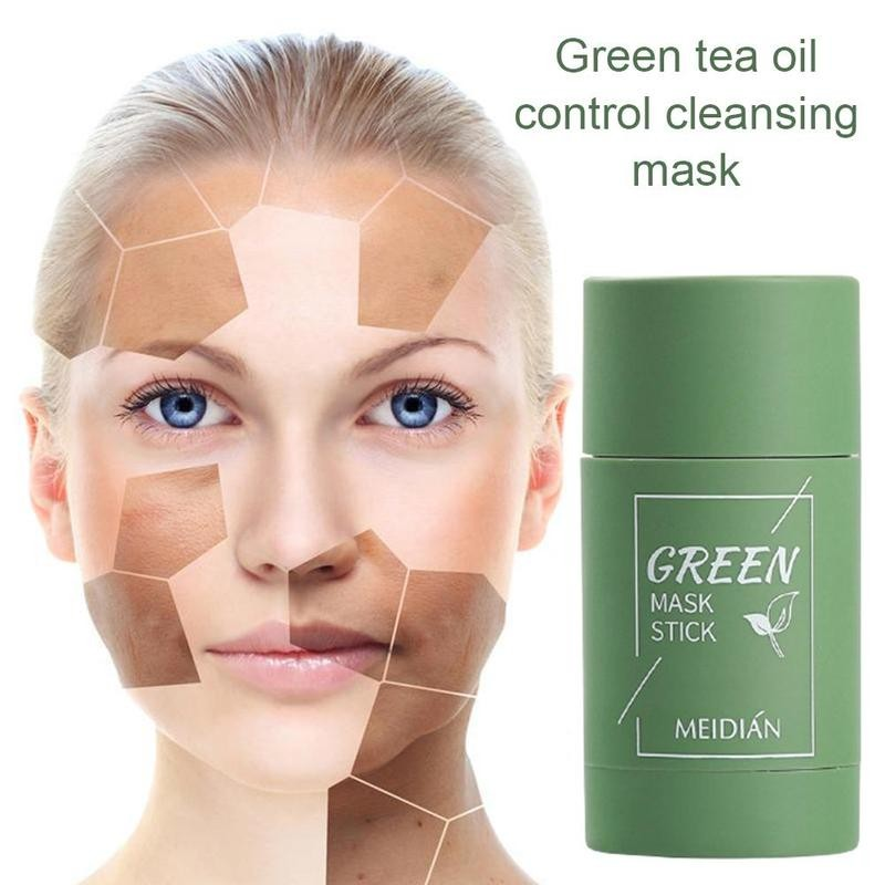 Green Tea Cleansing Clay Stick Mask Acne Cleansing Beauty Skin Green Tea Moisturizing Hydrating Whitening Care Face 5