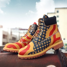 Men Genuine Leather Winter Boots Fashionable Leather Work Boots Ankle Indestruct