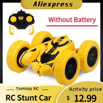 1/28 RC cascadeur voiture haute vitesse culbutant véhicule sur chenilles 360 degrés Flips Double face rotation culbutant voiture RC