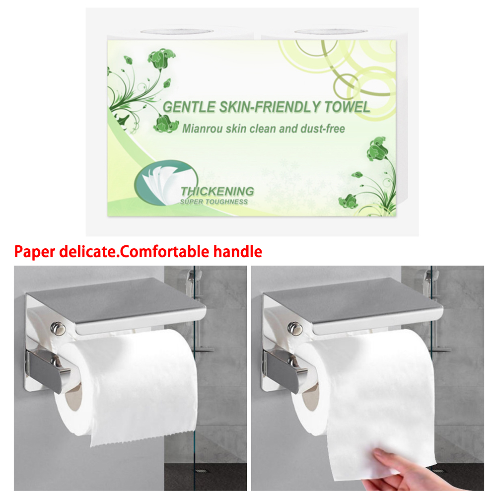 4 Layers Pout Smile Roll Soft Toilet Paper Bathroom Product Tissue Rolling Paper Gift Household Roll Paper Towel Home Travel