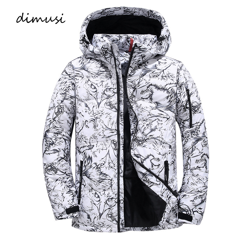 DIMUSI Winter Men's Bomber Jackets Men Cotton Thick   Parkas   Coats Casual Mens Outwear Windbreaker Thermal Hooded Jackets Clothing