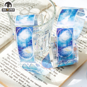 Image 5 - Mr.Paper Butterfly Peony Colorful Insect Cut off Rule Line Bullet Journaling Washi Tape Scrapbooking DIY Decoration Masking Tape