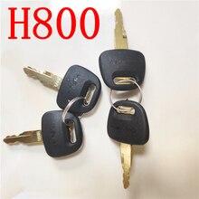 Keys H800 Heavy Equipment Ignition Key for Hitachi ZX Excavator
