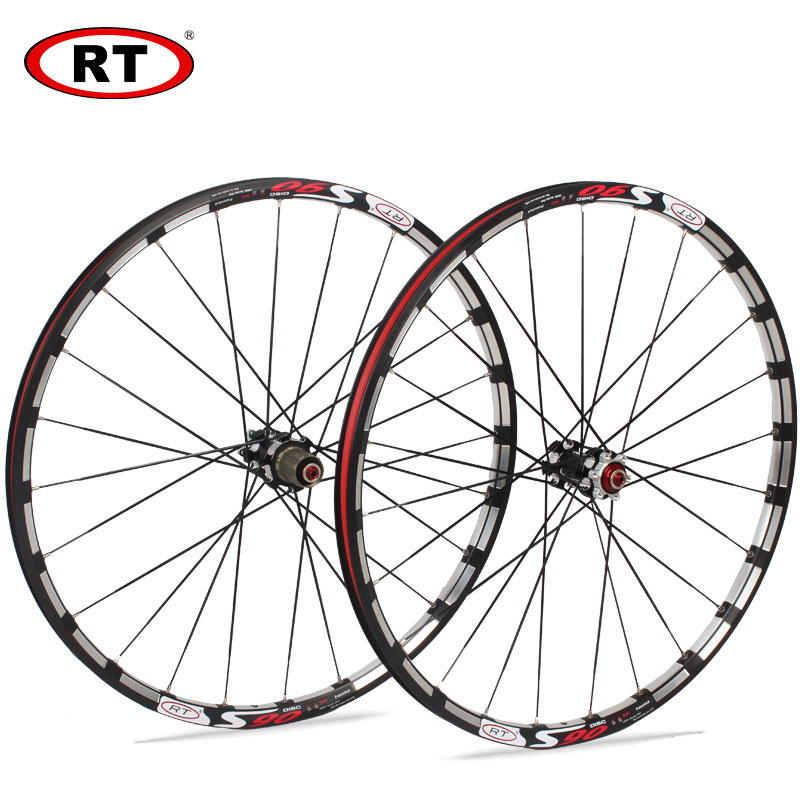 <font><b>RT</b></font> MTB Mountain Bike Bicycle <font><b>Wheelset</b></font> Aluminum Alloy with Straight Pull Hub Front 2 Rear 5 Bearing Disc Brake Hub 120 Rings image