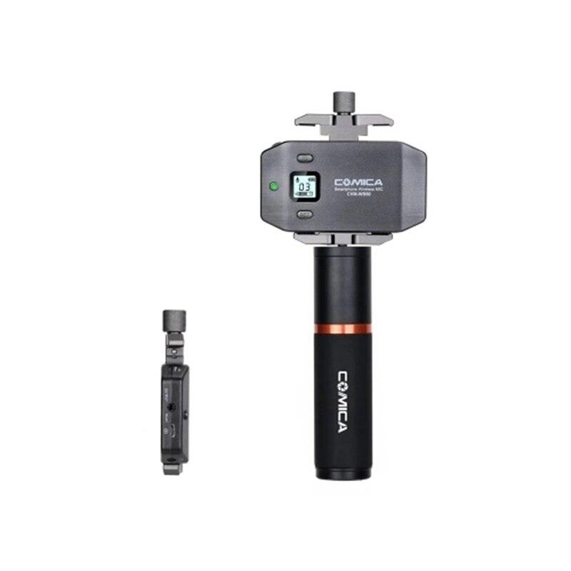 Comica Cvm-Ws50H смартфон беспроводной микрофон+ ручной передатчик 6 каналов/ЖК-экран/60 м рабочее расстояние/для м