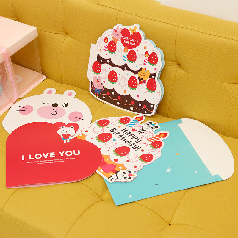 Valentine Wedding Birthday Kawaii Cartoon Envelope Big Greeting Card Birthday Greeting Card Animal Greeting Card Invitation Card