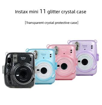 Instax Mini 11 kryształowy przezroczysty futerał ochronny pokrowiec na aparat fotograficzny Fuji Fujifilm Instant Instax Mini 11 akcesoria tanie i dobre opinie DEDOMON BŁYSKAWICZNY APARAT FOTOGRAFICZNY Uniwersalny CN (pochodzenie) torby na ramię Torebki na aparat Other for mini 11