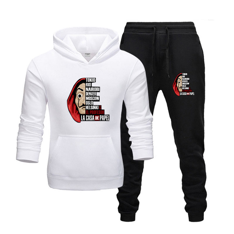 New Hot Two Pieces Set Fashion Hoodies Sportswear Men Tracksuit Hoodies  Men Brand Clothes Hoodies+sweatpants Sets