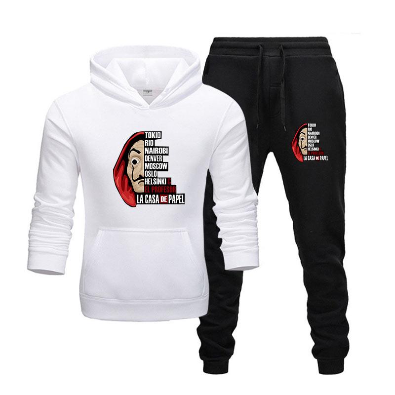 New Hot Two Pieces Set Fashion Hoodies Sportswear Men Tracksuit Hoodies  Men Brand Clothes Hoodies+sweatpants Sets