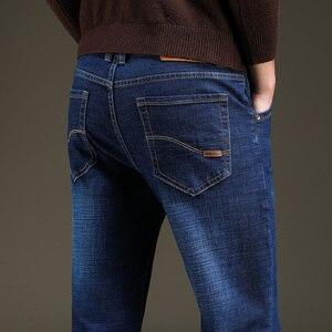 Image 5 - 2019 jesień wiosna w połowie wagi mężczyźni Casual Biker dżinsy Stretch spodnie dżinsowe solidne dopasowane jeansy rurki męskie spodnie uliczne typu Skinny