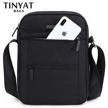TINYTA للرجال حقائب كتف للرجال من أجل 9.7 'pad 9 جيوب مقاوم للماء حقيبة كروس عادية أسود حقيبة أوراق قماشيّة كتف