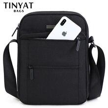 TINYTA męskie torby męskie torby na ramię na 9.7 pad 9 kieszeń wodoodporna Casual crossbody torba czarna torba kurierska z płótna na ramię
