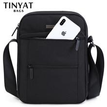 Tinta 남성용 가방 남성용 숄더백 9.7 pad 9 포켓 방수 캐주얼 크로스 바디 백 블랙 캔버스 메신저 백 숄더