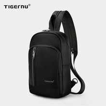 Tigernu – sac à bandoulière pour hommes, sacoche de poitrine de haute qualité avec chargeur USB pour iPad 9.7 pouces