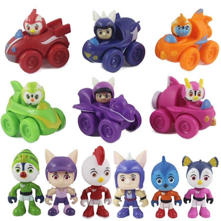 6 pcs-12 pçs/set Top Asa Figura de Ação Brinquedos Figuras de Veículos Swift, Rod, Moeda de Um Centavo, brinquedos Bonecas de Coleção Brody 7cm Caçoa o Presente