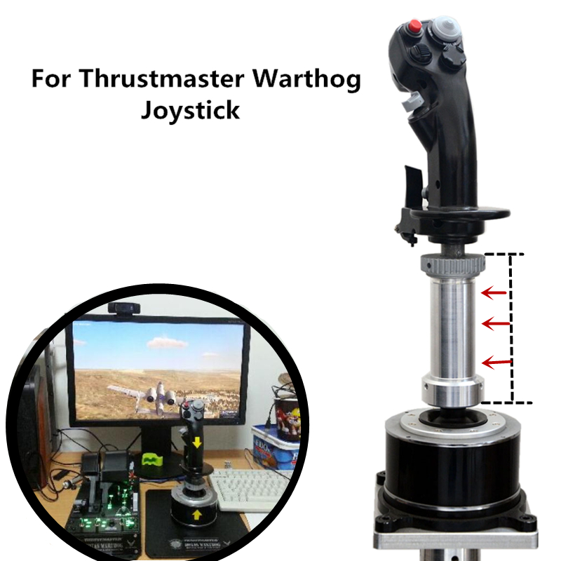 Airplane Extension Bar Replacement For Thrustmaster Warthog A10C Joystick Modification Simulation Plane Game Aluminum Alloy